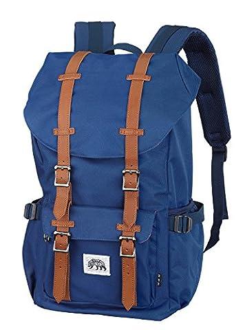 Bear&Goodies Ystad Rucksack, für Laptop bis 15 Zoll, als Daypack, als Schulrucksack, die Uni, im Retro Look, zum Reisen oder Wandern, für Studenten, Damen oder Herren