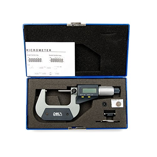 25–50mm micrómetro Digital 12meses garantía incluye un balón yunque adaptador y ajuste estándar