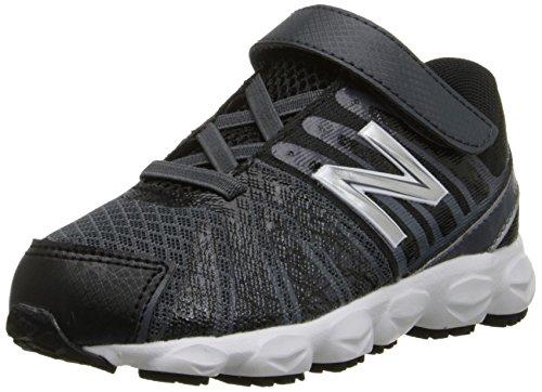 New Balance KV890 Hook and Loop Running Shoe (Infant/Toddler) Black/White