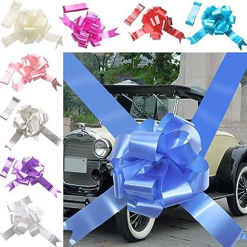 TtS 3 Bow 7 metres Ribbon Wedding Car Ribbon Decoration Kit Wrapping Large Bow Royal Blue