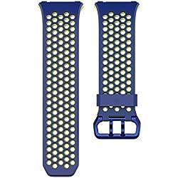 Fitbit Ionic Correa Sport, Unisex Adulto, Azul, Large