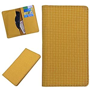 DCR Pu Leather case cover for Samsung Galaxy J-7 (yellow)