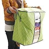 MICHAELA BLAKE Nützliche Lagerung Artikel 48x30x50 cm Non-Woven-Receive Kleidung Quilt Tasche Großen Gepäck Organisator-Speicher-Garderobe Kleidung Box (grün)