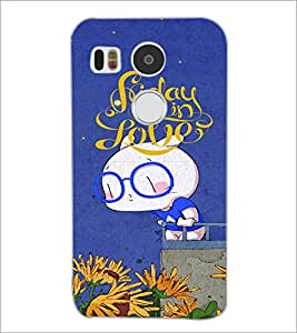 PrintDhaba Love D-4872 Back Case Cover for LG NEXUS 5X (Multi-Coloured)