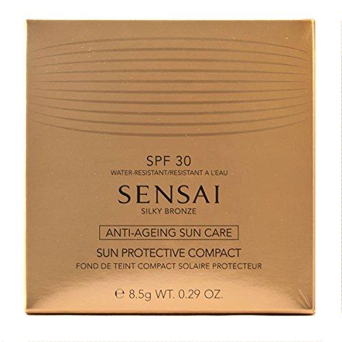 Sensai Silky Bronze femme/woman, Sun Protective Compact SPF30 Nr. SC02 Natural, 1er Pack (1 x 9 g)