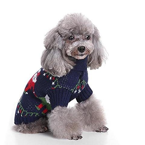 Holiday Christmas Reindeer Vintage Classic Dog Sweater Festive Dress LNAG , xl