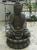 BRUNNEN BUDDHA SKULPTUR STATUE 86cm INCL. LICHT/PUMPE FENG SHUI FIGUR