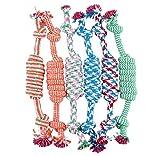 Tonsee Welpe Hund Haustier Spielzeug Baumwolle geflochten Knochen Seil kauen