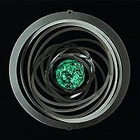 Acero inoxidable Wind parte - Espirales Glow 200 - Dimensiones: 28 x 28 cm - Incluye Suspensión y fluoreszierender bola de cristal