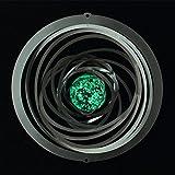 Edelstahl Windspiel - STRUDEL GLOW 200 - lichtreflektierend - Abmessung: