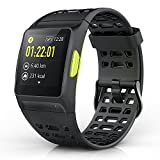 IWOWNfit Smart Watch P1 Fitness Watch Activity Tracker With Heart Rate Monitor HRV Analysis Pedometer Sleep Steps Tracker With Multi Sports Modes IP68 Waterproof Bluetooth GPS Running Watch