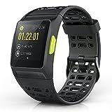 iwownfit Smart Watch, P1Fitness Video: Activity Tracker mit Herz Rate Monitor Herzfrequenz, Analyse, Schrittzähler, Schlaf, Schritte Tracker mit multi-sports Modi, IP68Wasserdicht Bluetooth GPS Running Armbanduhr