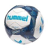 Hummel Premier Ultra Light FB-Ballon de Football Balles Mixte Adulte, Blanc/Bleu Indigo/Turquoise, 3