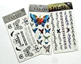 Tt Set A002 3 Sheets Of Butterfly Tattoo...