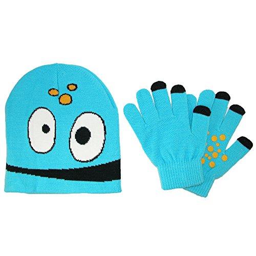 CTM - Ensemble bonnet, écharpe et gants - Uni - Garçon bleu clair