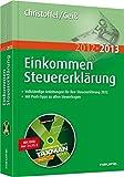 Einkommensteuererklärung 2012/2013: Mit Software