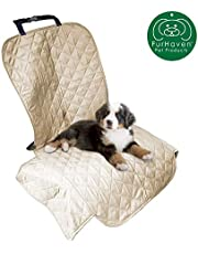 Furhaven Pet Car Seat Cover | Ultrasonic Quilted Car Seat Cover, Clay, Single-Seat