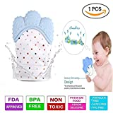 #6: Baby Station Teething Mitten for Infants, Baby Boys & Girls, Silicone Teething Mitt Teether Gloves BPA Free, Teething Toys, Ideal Baby Shower Gift (1 Piece) (Sky Blue)