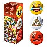 Official Emoji Unisex Novelty Fun Golf Balls (Pack of 3), Red