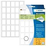 Herma 10608 Vielzweck Etiketten ablösbar ohne Rückstände (19 x 27 mm) weiß, 960 Klebeetiketten, 32 Blatt Papier matt, Handbeschriftung