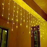 Homedecoam 3,5M LED 96er AC 220V Lichterkette Innen Vorhang Licht Warmweiß