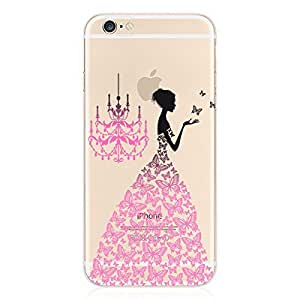iPhone 6 Case, Bluewo Clear Soft TPU Cartoon Printed Protective Cover for 4.7 Inches iPhone 6 6S
