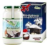 Weihnachtsedition -100% reines Kokosöl 1000ml- ein tolles Geschenk für Sie & Ihn zu Weihnachten