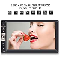 Qiilu Universal 7 pulgadas 2 Din Reproductor Multimedia MP5 HD Pantalla Táctil Bluetooth USB / TF FM Aux Entrada Radio Estéreo MP5 Player para Coche