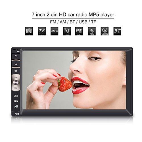 Qiilu 7inch 2 Din HD Bluetooth Touchscreen Auto Stereo FM Radio MP5 Spieler (Stereo Hd-radio-bluetooth-auto)