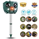 Monkey Home 2018 New Solar Powered Ultrasonic Animal and Pest Repeller,Motion Activated PIR