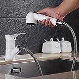 WANG-shunlida Zeichentisch Waschbecken Waschbecken kalt Heiß tippen können, Wasserhahn stretch