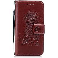 446b5e69d86fb5 Cuir étui pour Samsung Galaxy A3 2017, Meet de Folio PU Portefeuille Etui  Housse Coque Housse de Téléphone en Cuir Case Couvrir Case Cover smart flip  cuir ...