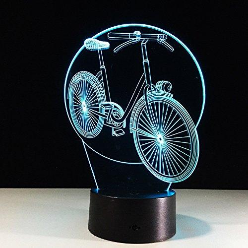 Nachtlicht, Fahrrad 3D Lichter bunte Fernbedienung Touch LED-Leuchten Stände seltsame neue Produkte Nachtlicht, Acryl, 3W ( Color : Touch version ) (Engel-lichter Für Fahrrad)