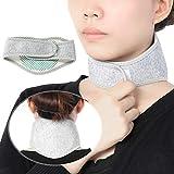 TMISHION Halskrause und Nackenbandage, Nackenstütze gegen Nackenschmerzen, Wärmende Nackenwärmer mit Turmalin Magneten, Halswärmer Nackenstütze, selbstwärmend verstellbare Cervicalstütze