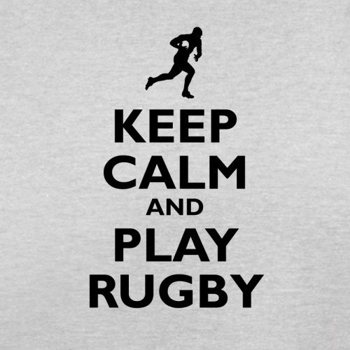 Keep Calm and Play Rugby - Herren T-Shirt - 13 Farben Hellgrau