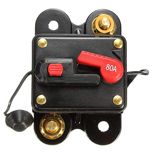 GIlH 80A Resetable Car Boat Audio/Video AMP Power Fuse Circuit Breaker -