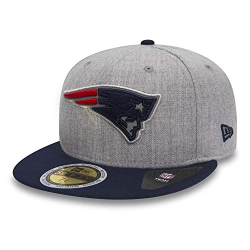 Patriot Hut Winter (New Era Herren Caps / Fitted Cap Reflective Heather New England Patriots grau 7 - 55,8cm)