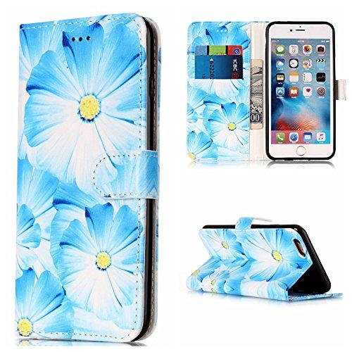 Pour Apple IPhone 6 et 6s Plus Housse horizontale Flip Case Luxe fleur / Marbre Texture Portefeuille en cuir PU Premium avec fermeture magnétique et porte-monnaie et cartes trépieds ( Color : E ) E