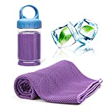 ACVIOO Handtücher Mikrofaser Kühltuch Kühlendes Handtuch Cool Handtuch für Fitness Yoga Camping Wandern (Lila)
