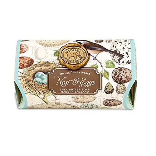 Michel Design Works Fresh Morning Rain Scented Triple Milled Shea Butter Bath Soap Bar, Nest & Eggs