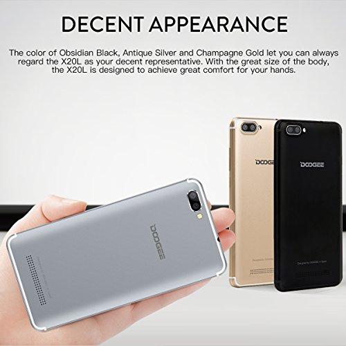 Smartphone Libre  DOOGEE X20L Moviles Baratos 4G  Pantalla de 5 Pulgadas HD IPS - 2 GB de RAM - 16 GB - MT6737 Quad Core Android 7 0 - C  mara Trasera