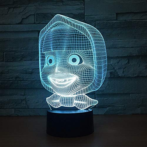 BFMBCHDJ Young Baby 3D Lamp 7 Color Led Night Lamps