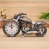 Souvent Vintage Moto Alarm Clock Réveil Moto Horloge de table Quartz Horloge Horloge Oddiyana+gold