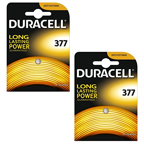 2 x Duracell 377 1.5v Silver Oxide Watch Battery Batteries SR626SW AG4 626 D377 -
