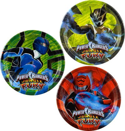 "Power Rangers Jungle Fury 7"" Dessert Plates Asst. (8 count)"