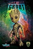 Marvel Comics Pyramid International Maxi Poster «I Am Groot - Les Gardiens de la Galaxie 2», Plastique/Verre, Multicolore, 61 x 91,5 x 1,3 cm