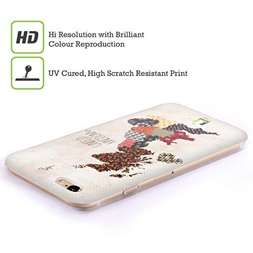 Head Case Designs Italie Cartes - Motifs Étui Coque en Gel molle pour Apple iPhone 6 / 6s Royaume-Uni