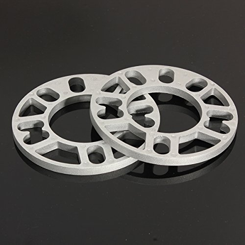 JenNiFer 2pcs Universal 10MM Aluminum Wheel Spacers Shims Plate 4/5 Stud Fit
