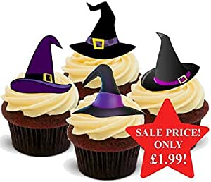 FUNNY HALLOWEEN WITCH LEGS Standups 12 Edible Standup Premium Wafer Cake Toppers