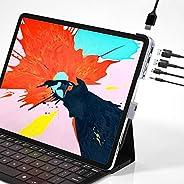 قاعدة توصيل منافذ لجهاز ايباد برو من باسيوس انفيسبل 6 في 1 بمنافذ USB-C وPD بقدرة 60 واط وصوت مقاس 3.5 ملم وبط